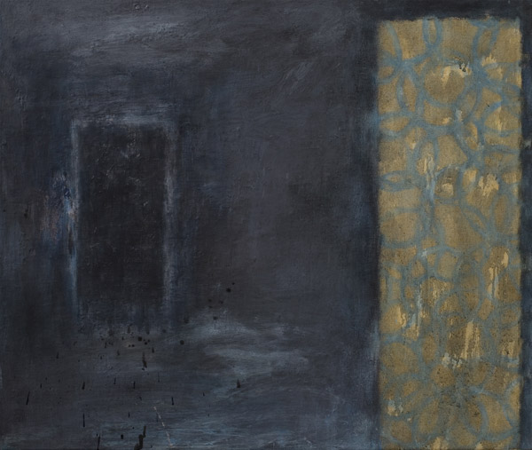 Susan Preston Paintings - Panel 12 - Abstract oil on linen in dark tones